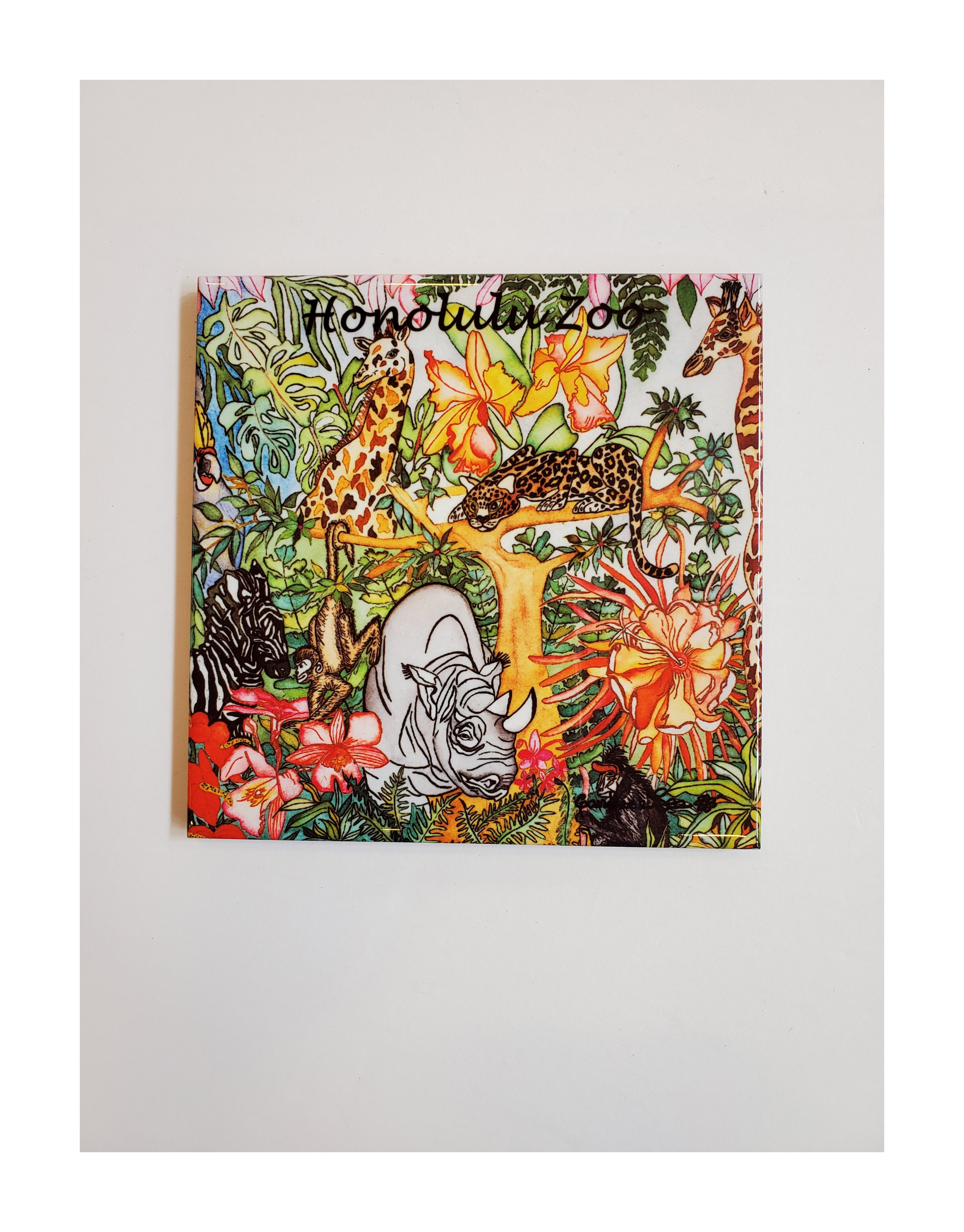 """6"""" ENDANGERED SPECIES  DECORATIVE TILE  MADE IN HAWAII"""