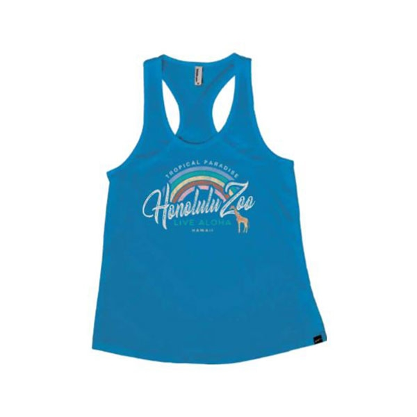 ADULT LADIES TANK RAINBOW GARDEN-COBALT
