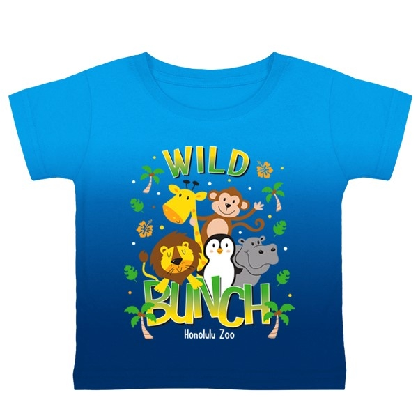 TODDLER SHORT SLEEVE TEE WILD BUNCH-BLUE