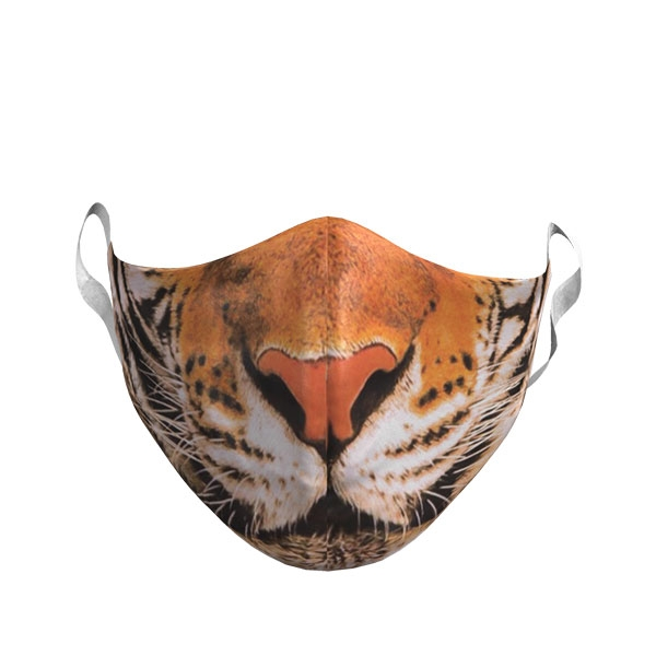 ADULT TIGER PHOTO FACE MASK