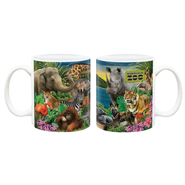HONOLULU ZOO COLLAGE MUG