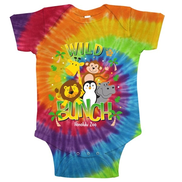 INFANT ROMPER WILD BUNCH-RAINBOW