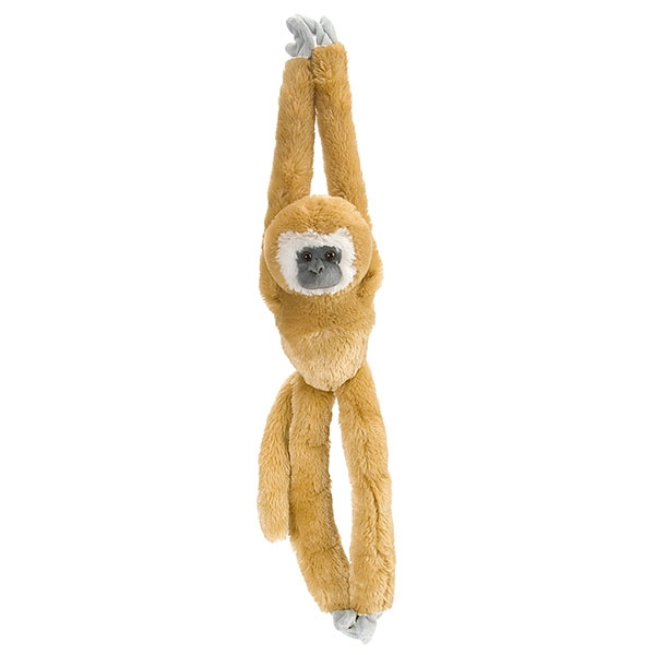 WHITE HANDED GIBBON HANGING MONKEY PLUSH