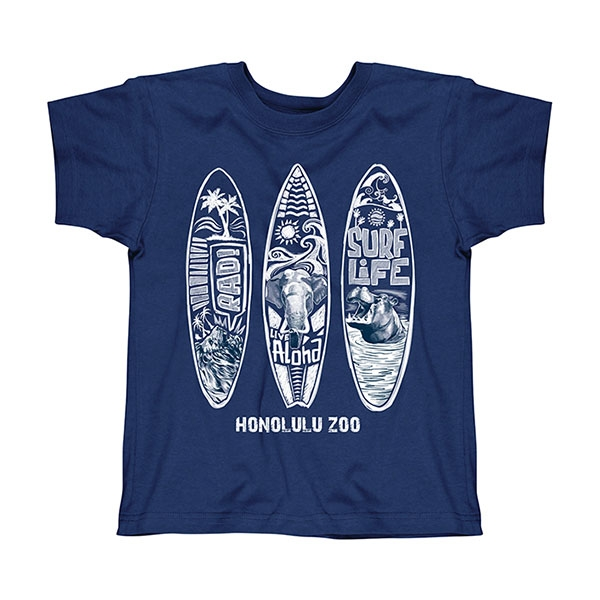 YOUTH SHORT SLEEVE TEE ZOO SURFBOARDS-NAVY