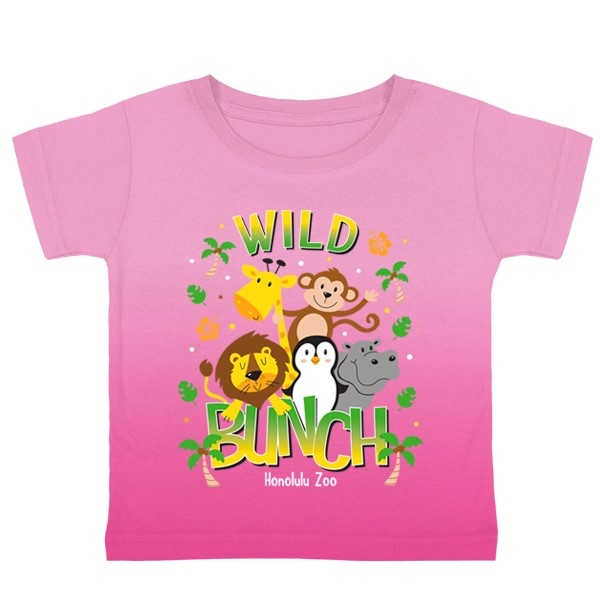TODDLER SHORT SLEEVE TEE WILD BUNCH-PINK