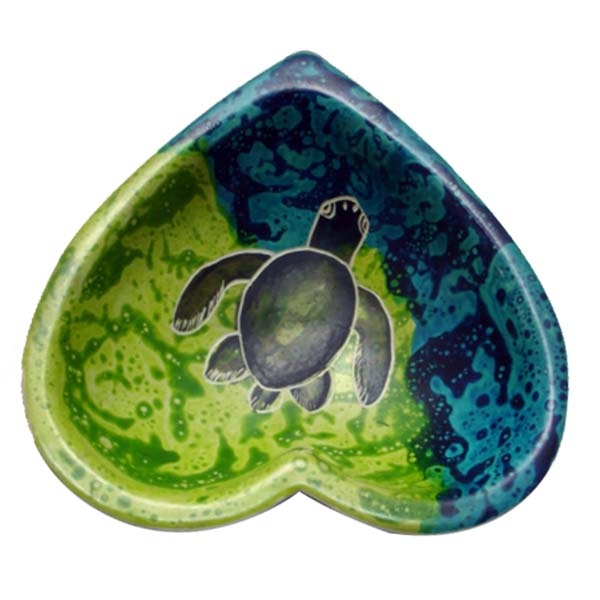 "SOAP STONE BOWL HEART SHAPE 3"" MAJI TURTLE"