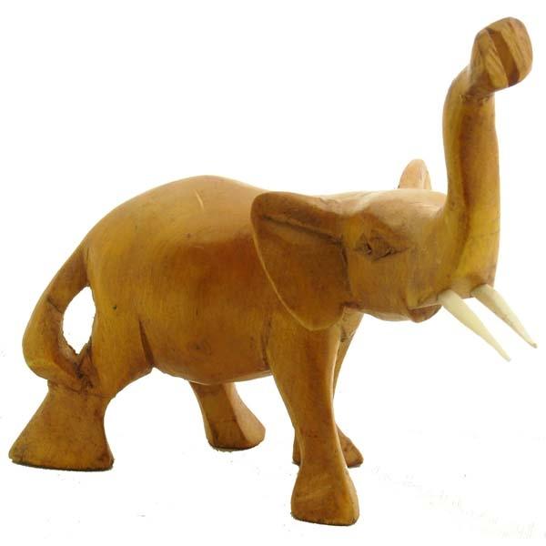 "ELEPHANT 6"" NATURAL WOOD"