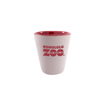 LOGO SHOT GLASS WITH RED INTERIOR