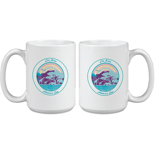 HONOLULU ZOO RAINBOW MUG