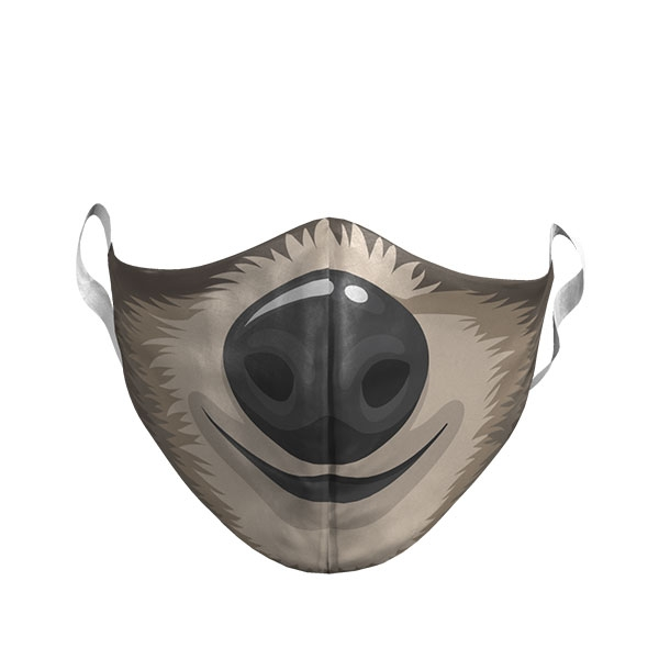 ADULT SLOTH PHOTO FACE MASK