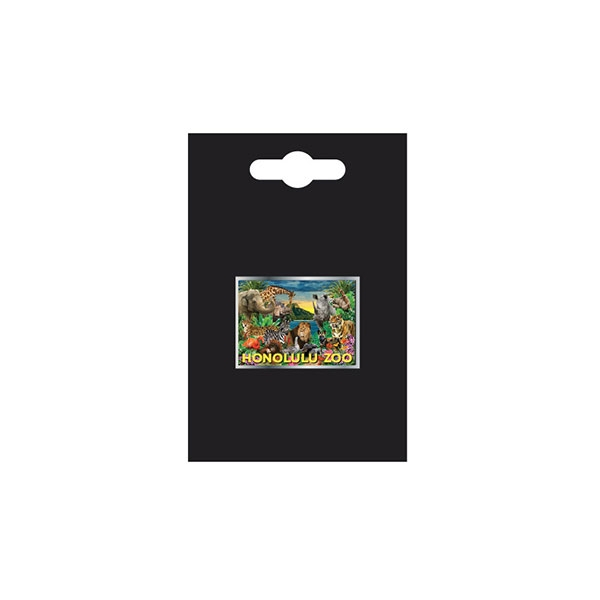 HONOLULU ZOO COLLAGE HAT PIN