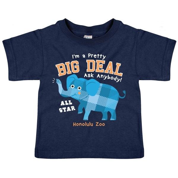 TODDLER SHORT SLEEVE TEE PRETTY BIG DEAL ELEPHANT