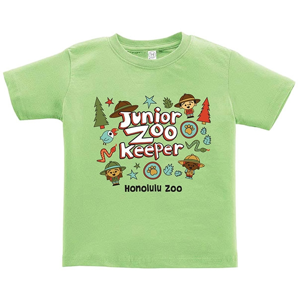 TODDLER SHORT SLEEVE TEE JUNIOR ZOOKEEPER-KEY LIME