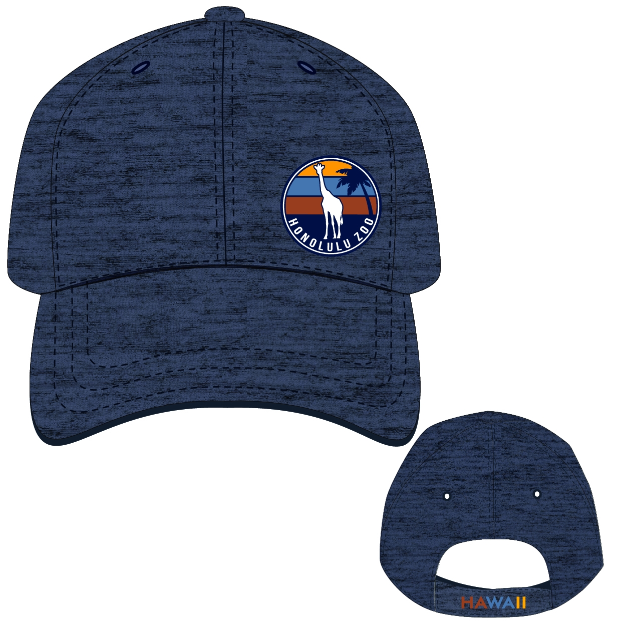 ADULT BASEBALL HAT RANDALL-NAVY