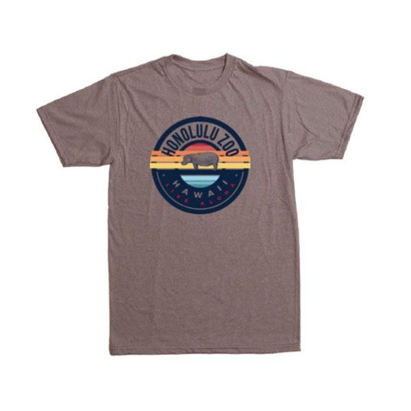 ADULT SHORT SLEEVE TEE END GAME HIPPO-ASH