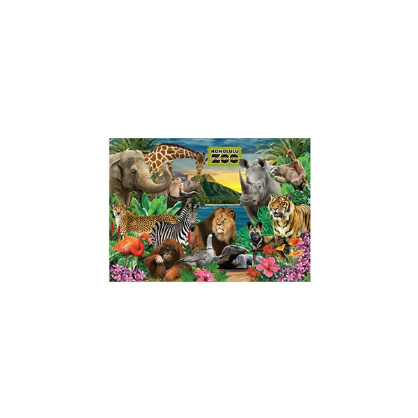 HONOLULU ZOO COLLAGE MAGNET