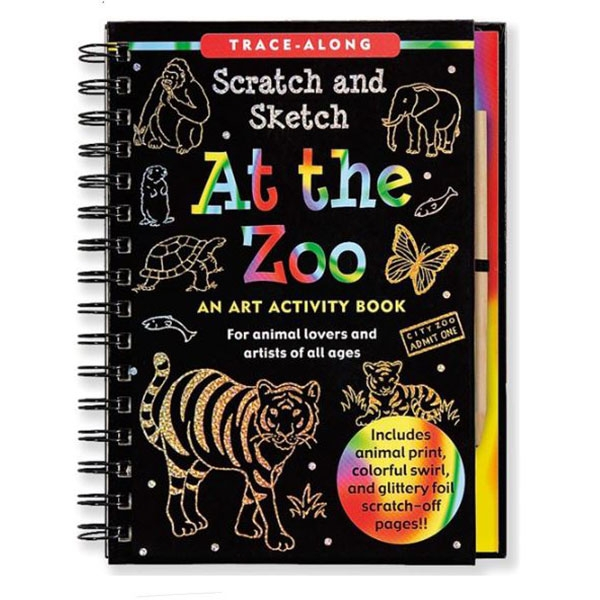 AT THE ZOO SCRATCH AND SKETCH BOOK