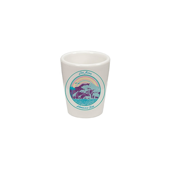 HONOLULU ZOO RAINBOW SHOT GLASS