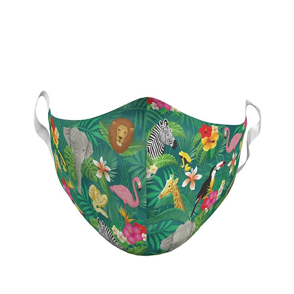 YOUTH HAWAIIAN PRINT LOGO FACE MASK