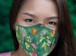 ADULT HAWAIIAN PRINT LOGO FACE MASK