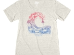 ADULT LADIES SHORT SLEEVE TEE MUNDO WAVE ZOO-OATMEAL